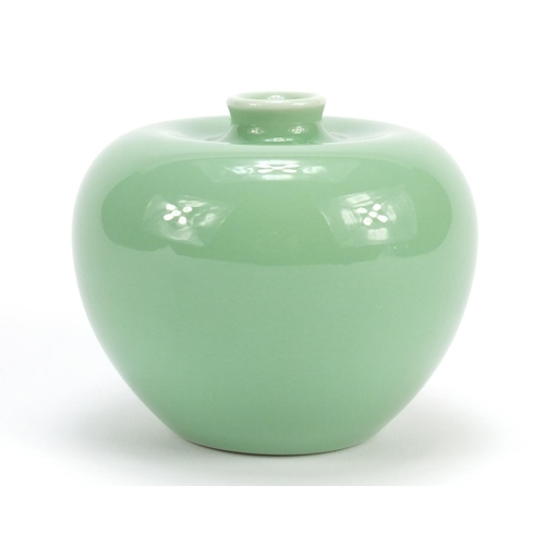 349 - Chinese porcelain celadon glazed vase, 8.5cm high