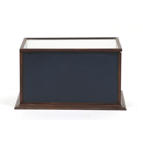 46 - Hunting interest diorama titled 'Shooting Party' housed under in a glazed oak case, 24.5cm H x 45.5c...