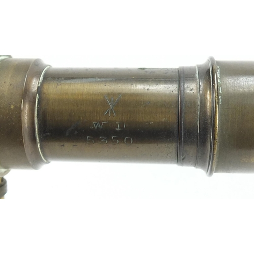 48 - Cooke Troughton and Simms surveyor's level and one other, the level numbered 23664, the largest 34cm...