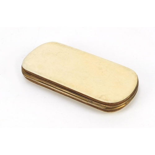 30 - Victorian ivory purse, 14cm high...