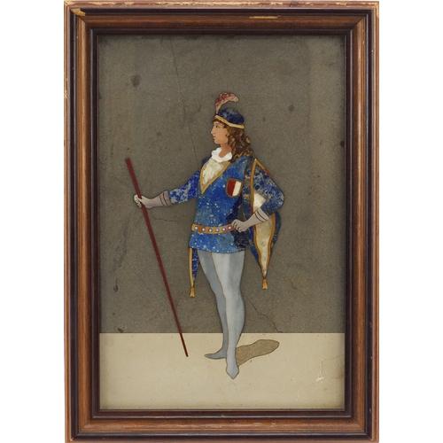 26 - Italian pietra dura plaque of a young gentleman, framed, 21.5cm x 14cm...