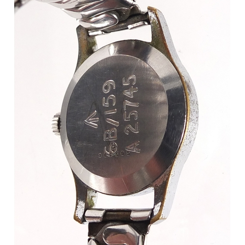 706 - Jaeger LeCoultre, British Military issue wristwatch, engraved 6B/159 A25745 to the case, 3.2cm in di...