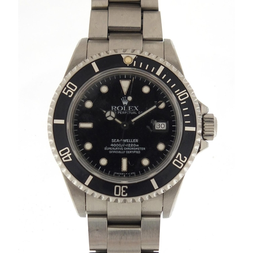 788 - Gentleman's Rolex Oyster Sea-Dweller perpetual date wristwatch with box, 38mm in diameter excluding ...