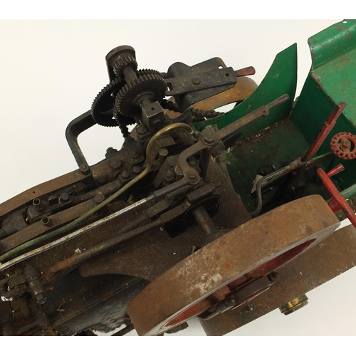 141 - Large coal fired traction engine, 99cm in length...