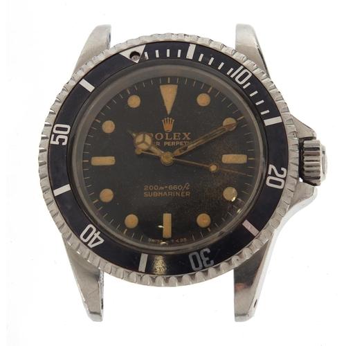 787 - Vintage gentleman's Rolex Oyster Perpetual Submariner wristwatch, REF 5513, serial number 1248857, 3...
