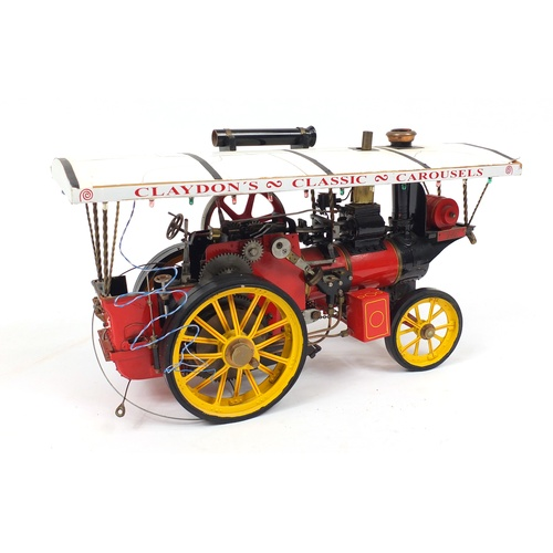 142 - Claydon's classic carousels steam engine, 54cm in length...