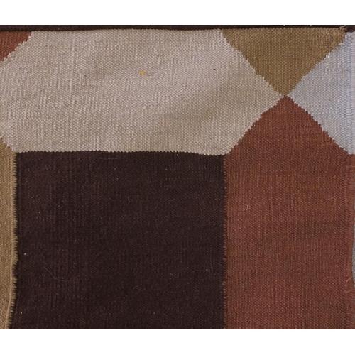 2040 - Rectangular Kilim rug, having an all over geometric design, 298cm x 203cm
