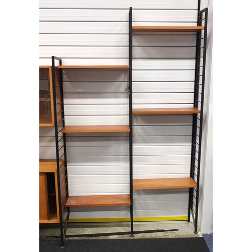 2005 - Vintage Ladderax modular wall unit, including cupboards and shelves...