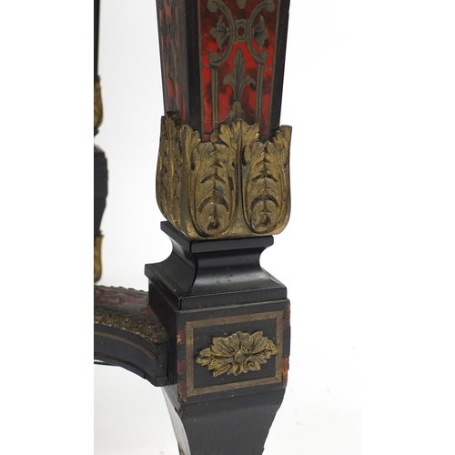 2006 - 19th Century French boulle work and ebonised centre table with ormolu mounts, fitted with a frieze d...