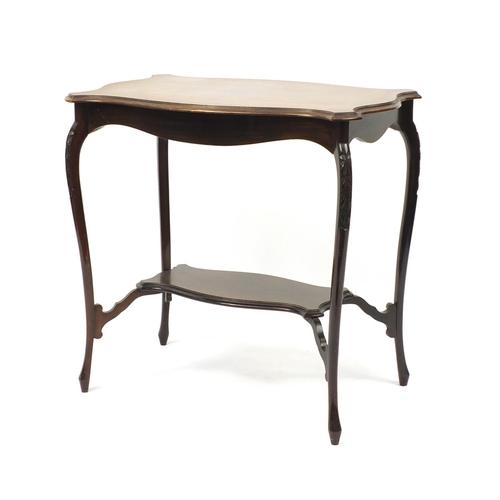 2024 - Mahogany centre table with under tier, 70cm H x 72cm W x 46cm D...