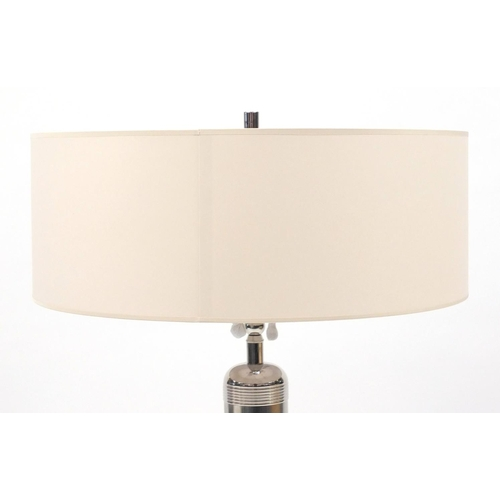 2037 - Visual Comfort Longacre tall table lamp, with natural paper shade, 75cm high...
