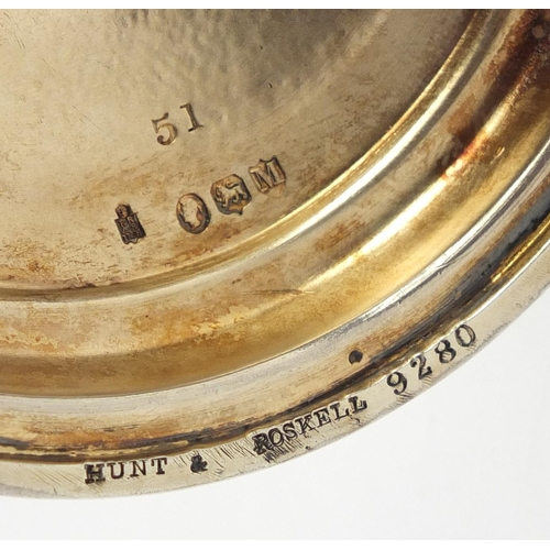 2 - Large commemorative silver gilt chalice by Hunt & Roskell with original fitted oak case, engraved Th...