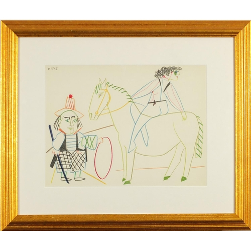 47 - Pablo Picasso - 30.1.54.II, la comedie humaine, lithograph, printed in 1954 by Mourlot Freres, detai...