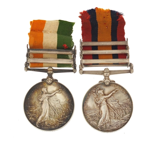 137 - Victorian military South Africa pair awarded to Major G A Shadforth of the Royal Dublin Fusiliers, c...