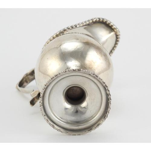35 - Antique Britannia silver pedestal cream jug, indistinct hallmarks, 12cm high, 114.0g...