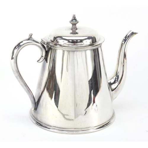 22 - Shipping interest Elkington & Co silver plated teapot with British India Steam Navigation Company mo...