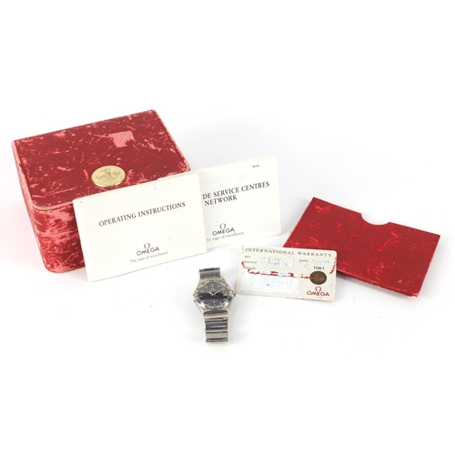 40 - Gentleman's Omega Constellation wristwatch with box and paperwork, the movement numbered 1432, 33mm ...