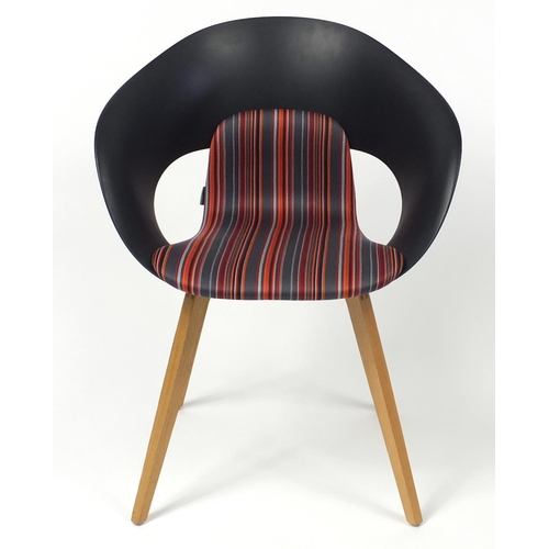 4247 - Swedish Deli KS-161 chair by Skandiform with striped upholstery, 82cm high...