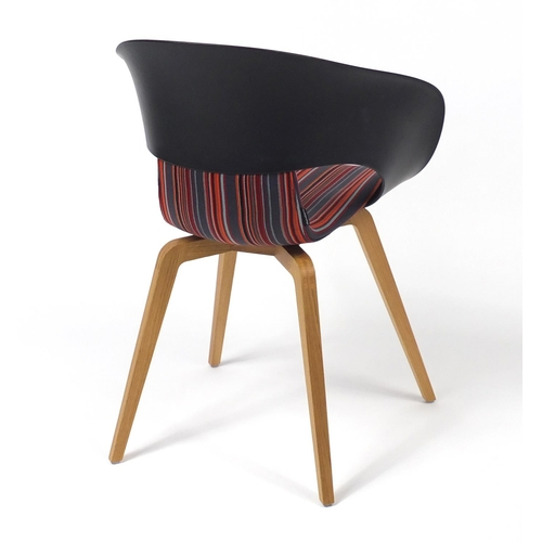 4246 - Swedish Deli KS-161 chair by Skandiform with striped upholstery, 82cm high...