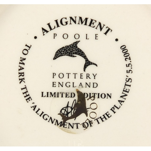 3645 - Poole Studio pottery Alignment bowl, limited edition, with box, 27cm in diameter...