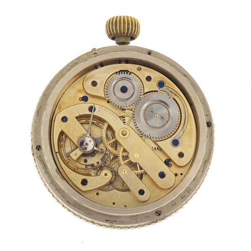 3978 - Early 20th century Goliath pocket watch/ desk timepiece with calendar, RD number 170471 and numbered...
