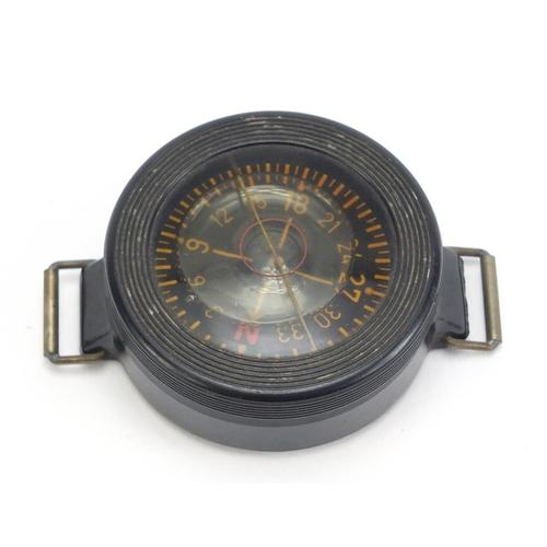680 - German military interest Luftwaffe AK39 pilot's compass, impressed Armband Kompass, Baumuster: AK39,...
