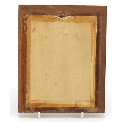 331 - Victorian Tunbridge ware easel photo frame, 19.5cm x 15.5cm
