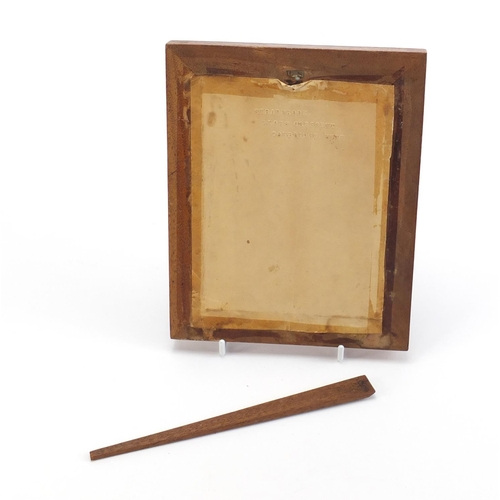 331 - Victorian Tunbridge ware easel photo frame, 19.5cm x 15.5cm...