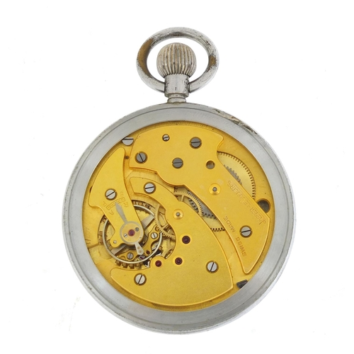 89 - British military Jaeger LeCoultre pocket watch with subsidiary dial, engraved GSTP 286253/XX to the ...