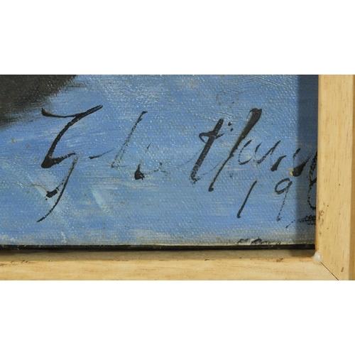 151 - Still life fruit, Scottish colourist school, oil on canvas, framed, 93cm x 76cm