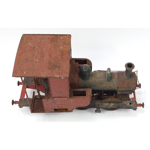 888 - Large scale live steam Douglas locomotive, possibly five inch gauge with another part hull, the Doug...
