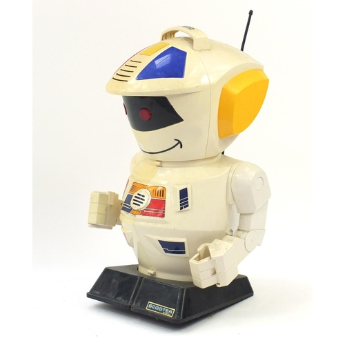 1527 - Large retro scooter 2000 remote control robot, 66cm high...