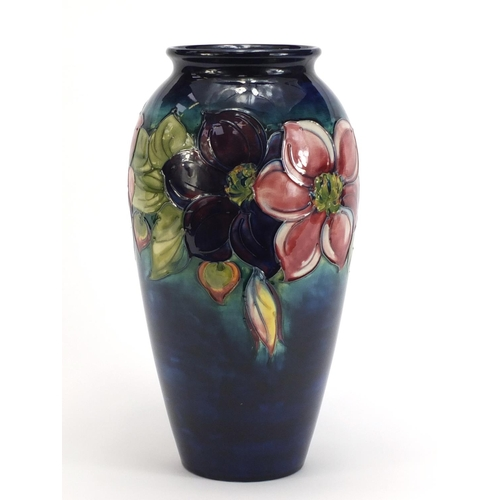 3 - Large Moorcroft pottery vase hand painted with anemone, 31.5cm high...