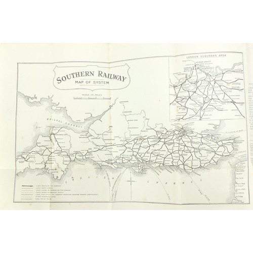 1563 - The Railway Year Book for 1925 with fold out maps...