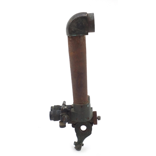 910 - Pair of German military World War II donkey ear binoculars by Wetzlar, numbered H/6400 262298, 50cm ...