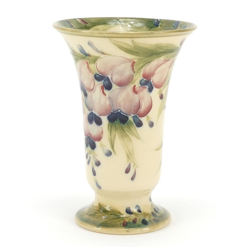 1 - Early William Moorcroft for Macintyre fluted vase hand painted with Wisteria, 14.5cm high...