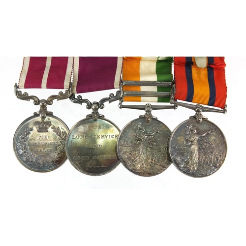 52 - Victorian and later British military four medal group comprising Queen's South Africa medal with Cap...
