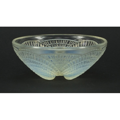 681 - René Lalique Coquilles opalescent glass bowl engraved R Lalique France, numbered 3204, 13cm in diame...