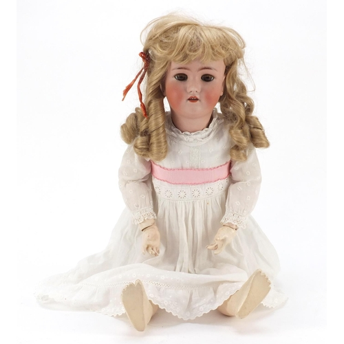1137 - German bisque headed doll with composite limbs by Heinrich Handwerck, Simon and & Halbig, 69cm in le...