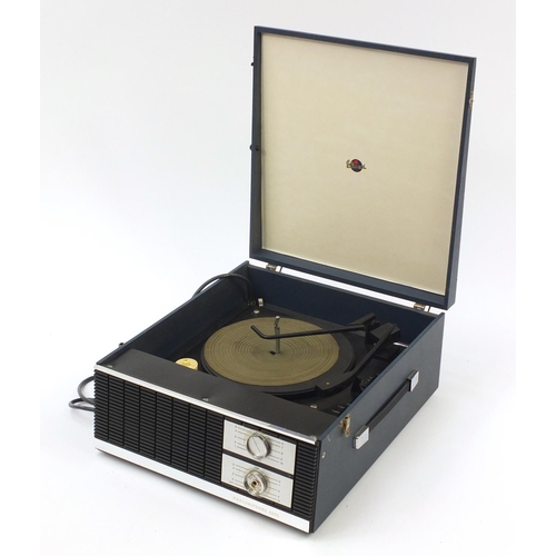 Vintage British Radio Corporation portable record player, model number 4045, serial number 3655