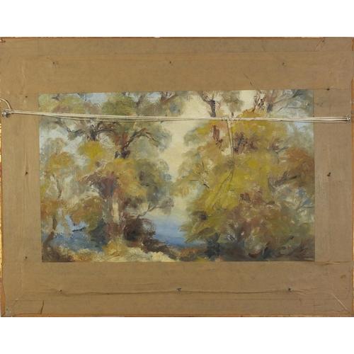 1173 - Horseracing scene, French school oil on board, framed, 59.5cm x 44cm excluding the frame
