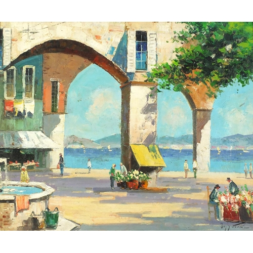 1171 - After Cecil Rochfort D'Oyly-John - South of France, oil on canvas, framed, 59.5cm x 49cm excluding t...