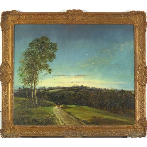 32 - Attributed to Thomas Kennedy - High Beech, Essex, oil on board, inscribed verso, framed, 49cm x 59cm...