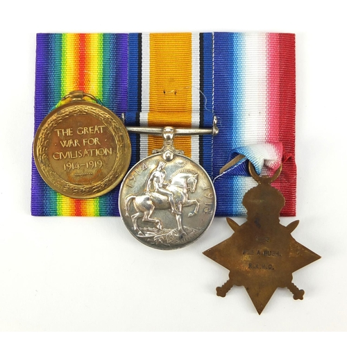 648 - British military World War I trio with Mons Star, the pair awarded to 2.LIEUT.A.G.PUGH.R.A.F., the S...