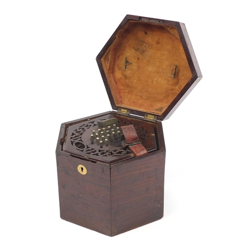 58 - Victorian rosewood 49 button concertina with rosewood case...