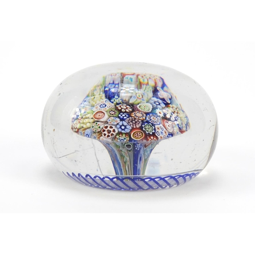 52 - 19th century Baccarat Millefiori close pack glass paperweight, approximately 8.1cm in diameter...