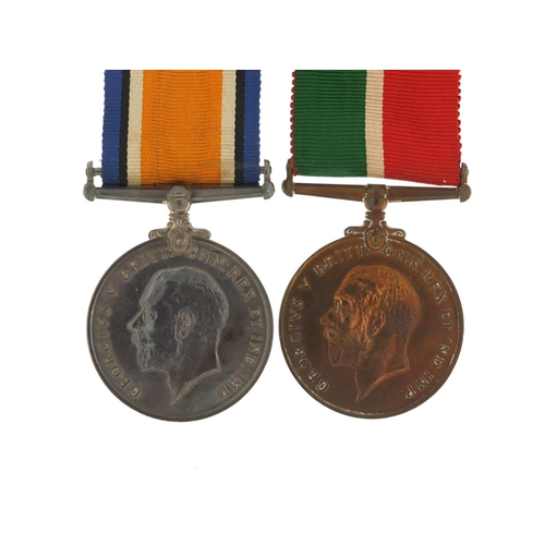 647 - British military World War I 1914-18 Mercantile Marine Pair awarded to Alexander S Turner...
