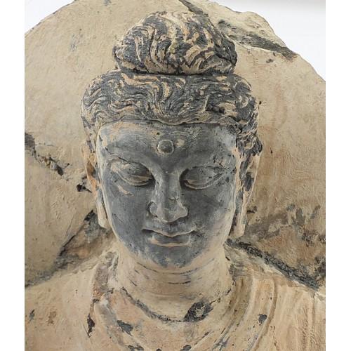 228 - 2nd/3rd century Northwest Indian stone carving of Gandhara Buddha, Kushan Period, Ancient Region of ...