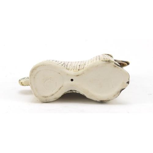 70 - Lisa Larson for Gustavsberg, stoneware stylised Afghan hound, 11.5cm in length...