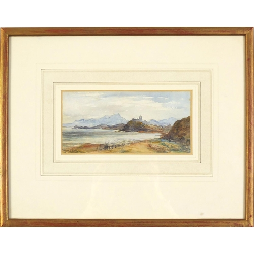 1463 - Criccieth, Candigana, watercolour, bearing an indistinct signature possibly P Hali? inscribed The Co...
